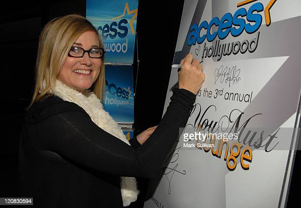 Actress Maureen McCormick attends the Access Hollywood 'Stuff You Must' Lounge produced by On 3 Productions celebrating the Golden Globes held at...