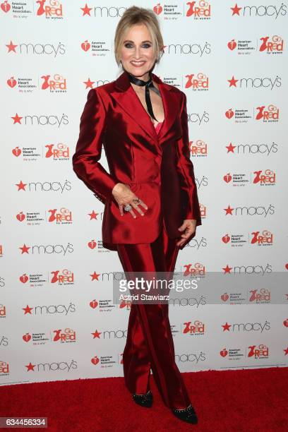 Actress Maureen McCormick attends the American Heart Association's Go Red For Women Red Dress Collection 2017 presented by Macy's at Fashion Week in...