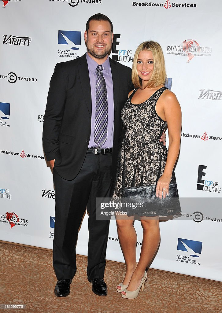 Actress <a gi-track='captionPersonalityLinkClicked' href=/galleries/search?phrase=Max+Adler&family=editorial&specificpeople=2070244 ng-click='$event.stopPropagation()'>Max Adler</a> and Jennifer Bronstein attend the 12th Annual Heller Awards at The Beverly Hilton Hotel on September 19, 2013 in Beverly Hills, California.