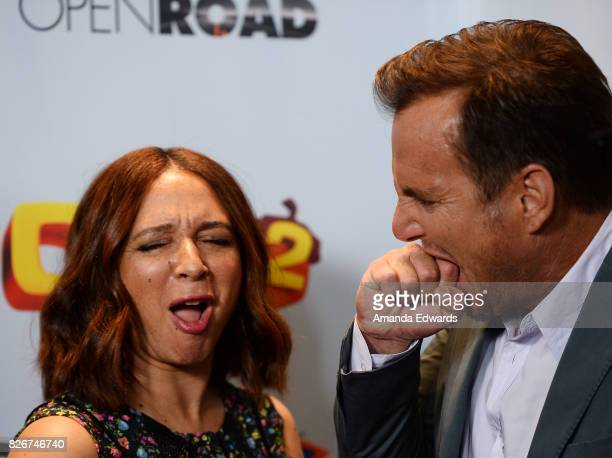 Actress Maya Rudolph and actor Will Arnett arrive at the premiere of Open Road Films' 'The Nut Job 2 Nutty By Nature' at the Regal Cinemas LA Live on...