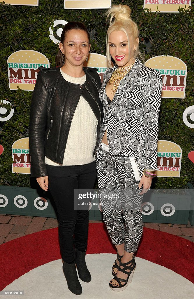 Actress <a gi-track='captionPersonalityLinkClicked' href=/galleries/search?phrase=Maya+Rudolph&family=editorial&specificpeople=857236 ng-click='$event.stopPropagation()'>Maya Rudolph</a> (L) and singer <a gi-track='captionPersonalityLinkClicked' href=/galleries/search?phrase=Gwen+Stefani&family=editorial&specificpeople=156423 ng-click='$event.stopPropagation()'>Gwen Stefani</a> arrive at <a gi-track='captionPersonalityLinkClicked' href=/galleries/search?phrase=Gwen+Stefani&family=editorial&specificpeople=156423 ng-click='$event.stopPropagation()'>Gwen Stefani</a>'s launch of her Harajuku Mini for Target Collection at Jim Henson Studios on November 12, 2011 in Los Angeles, California.