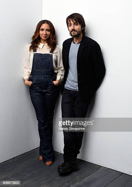 Actress Maya Rudolph and writer/director Diego Luna from the film 'Mr Pig' pose for a portrait during the WireImage Portrait Studio hosted by Eddie...