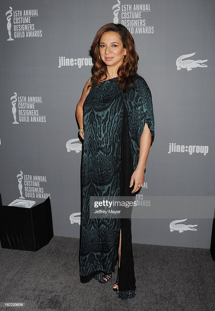 Actress Maya Rudolph arrives at the 15th Annual Costume Designers Guild Awards at The Beverly Hilton Hotel on February 19, 2013 in Beverly Hills, California.