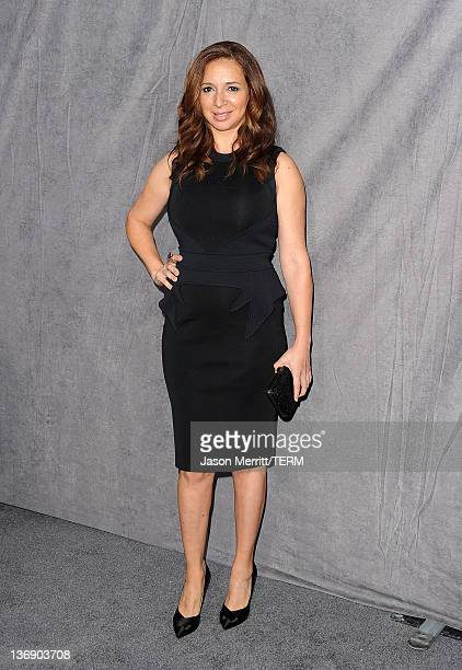 Actress Maya Rudolph arrives at the 17th Annual Critics' Choice Movie Awards held at The Hollywood Palladium on January 12 2012 in Los Angeles...