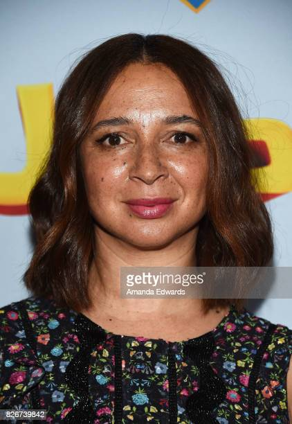 Actress Maya Rudolph arrives at the premiere of Open Road Films' 'The Nut Job 2 Nutty By Nature' at the Regal Cinemas LA Live on August 5 2017 in Los...