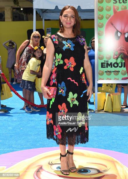 Actress Maya Rudolph arrives at the premiere of 'The Emoji Movie' at Regency Village Theatre on July 23 2017 in Westwood California