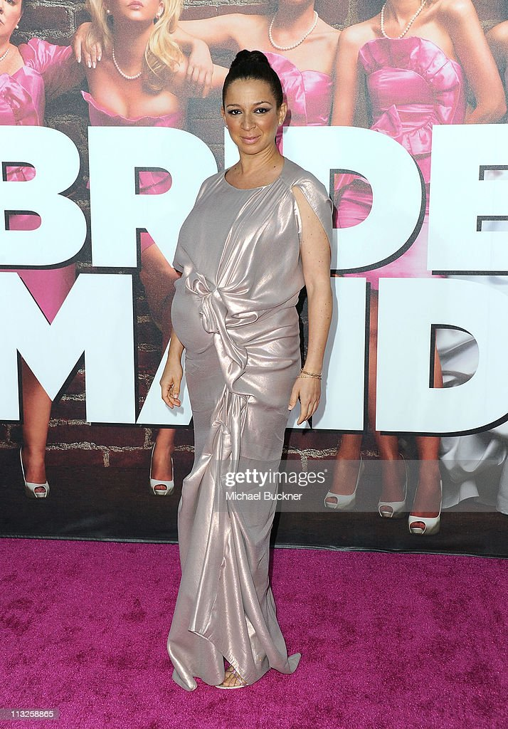 Actress Maya Rudolph arrives at the Premiere of Universal Pictures' 'Bridesmaids' at the Mann Village Theatre on April 28, 2011 in Westwood, California.