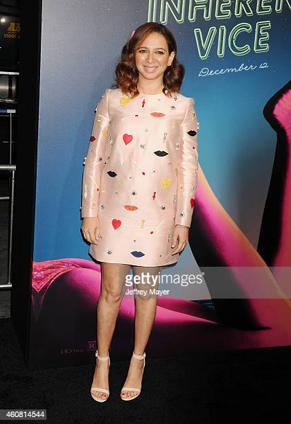 Actress Maya Rudolph arrives at the Premiere of Warner Bros Pictures' 'Inherent Vice' at TCL Chinese Theatre on December 10 2014 in Hollywood...