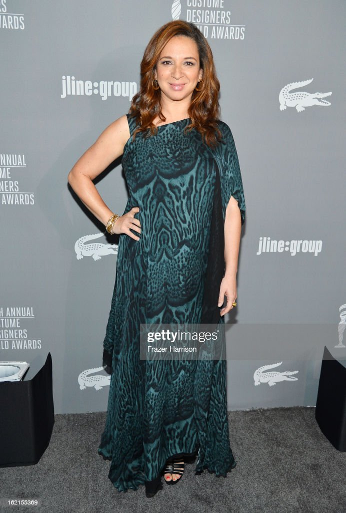 Actress Maya Rudolph attends the 15th Annual Costume Designers Guild Awards with presenting sponsor Lacoste at The Beverly Hilton Hotel on February 19, 2013 in Beverly Hills, California.