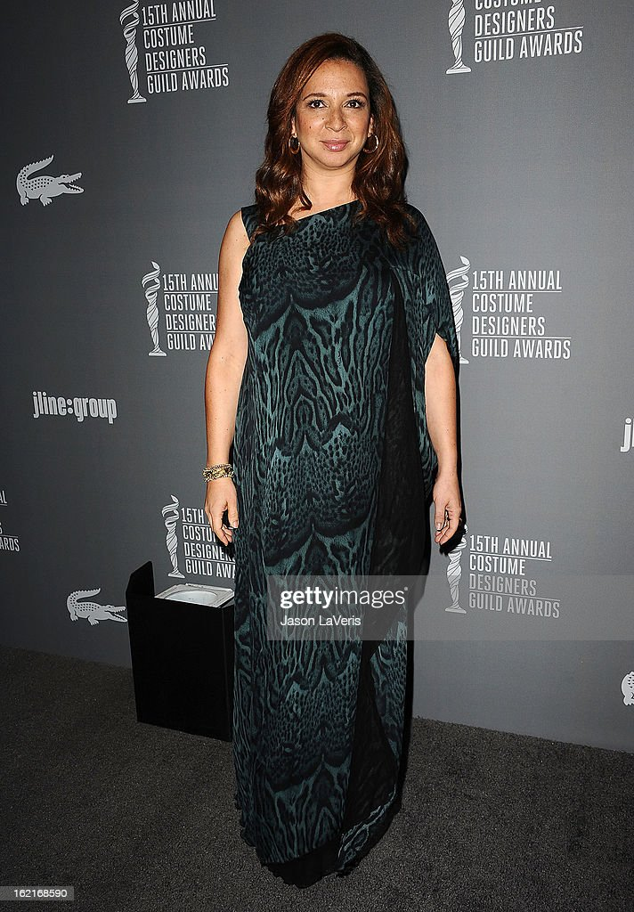 Actress Maya Rudolph attends the 15th annual Costume Designers Guild Awards at The Beverly Hilton Hotel on February 19, 2013 in Beverly Hills, California.