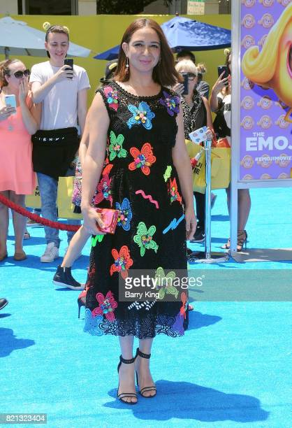 Actress Maya Rudolph attends the premiere of Columbia Pictures and Sony Pictures 'The Emoji Movie' at Regency Village Theatre on July 23 2017 in...