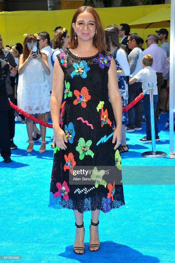 Actress Maya Rudolph attends the premiere of Columbia Pictures and Sony Pictures Animation's 'The Emoji Movie' at Regency Village Theatre on July 23, 2017 in Westwood, California.
