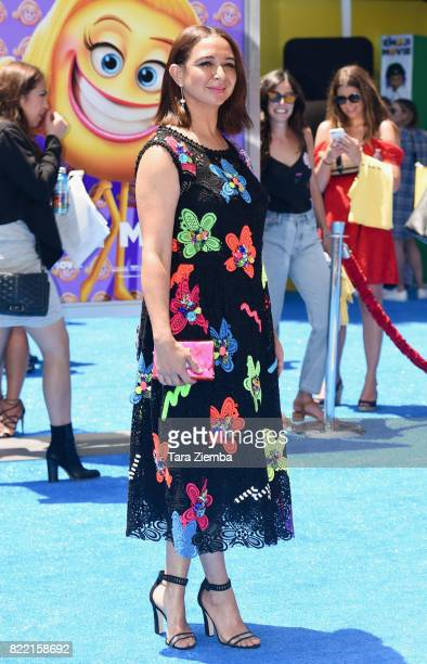 Actress Maya Rudolph attends the premiere of Columbia Pictures and Sony Pictures Animation's 'The Emoji Movie' at Regency Village Theatre on July 23...