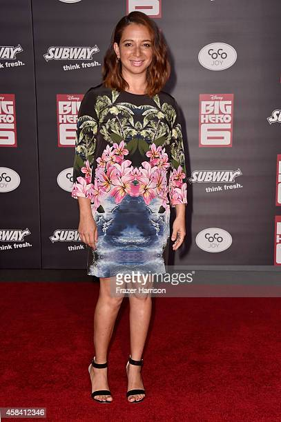 Actress Maya Rudolph attends the premiere of Disney's 'Big Hero 6' at the El Capitan Theatre on November 4 2014 in Hollywood California