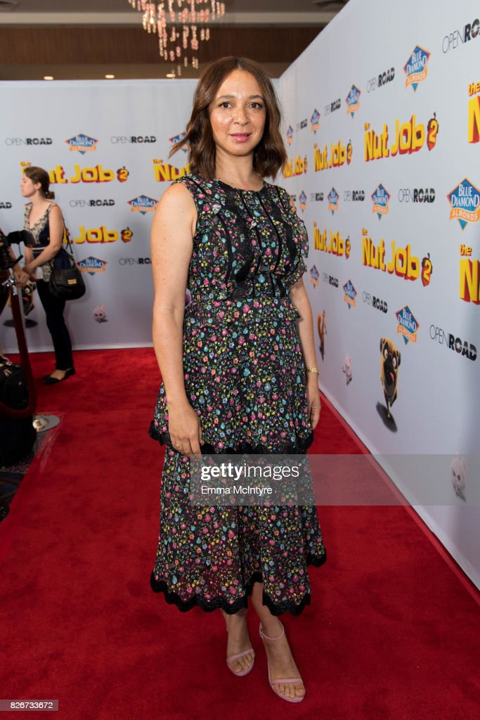Actress Maya Rudolph attends the premiere of Open Road Films' 'The Nut Job 2: Nutty by Nature' at Regal Cinemas L.A. Live on August 5, 2017 in Los Angeles, California.