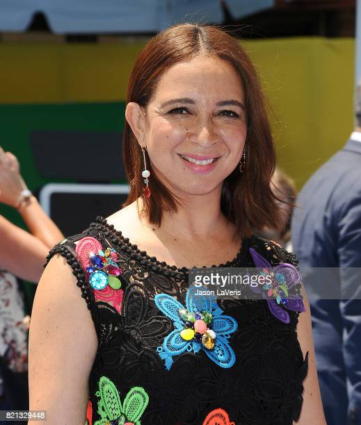 Actress Maya Rudolph attends the premiere of 'The Emoji Movie' at Regency Village Theatre on July 23 2017 in Westwood California