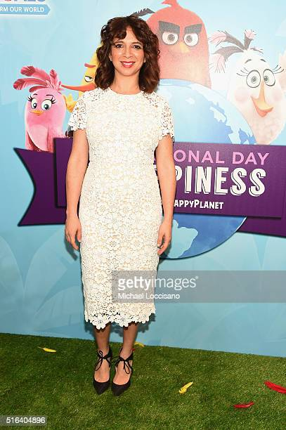 "Actress Maya Rudolph attends the United Nations Ceremony Presentation and Photo Call naming Red from the 'ANGRY BIRDS"" movie Honorary Ambassador for..."