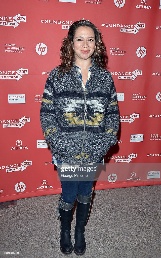 Actress Maya Rudolph attends 'The Way Way Back' premiere at Eccles Center Theatre during the 2013 Sundance Film Festival on January 21 2013 in Park...