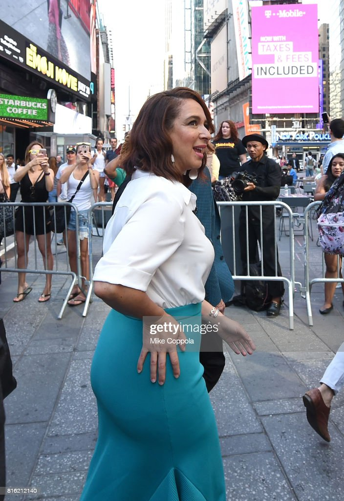 Actress Maya Rudolph of The Emoji Movie Celebrates World Emoji Day On Good Morning America on July 17, 2017 in New York City.