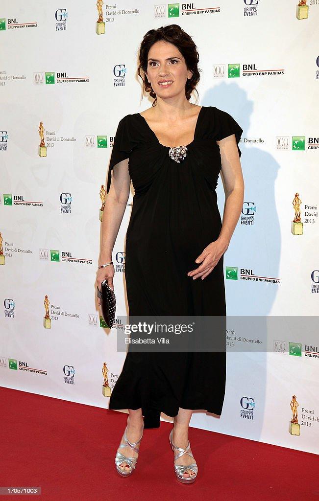 Actress Maya Sansa attends 2013 Premi David di Donatello Ceremony Awards at Dear RAI Studios on June 14, 2013 in Rome, Italy.