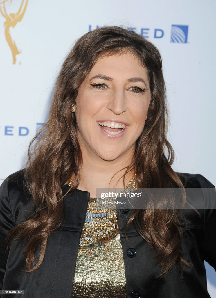 Actress <a gi-track='captionPersonalityLinkClicked' href=/galleries/search?phrase=Mayim+Bialik&family=editorial&specificpeople=1539271 ng-click='$event.stopPropagation()'>Mayim Bialik</a> arrives at the Television Academy's 66th Emmy Awards Performance Nominee Reception at the Pacific Design Center on Saturday, Aug. 23, 2014, in West Hollywood, California.
