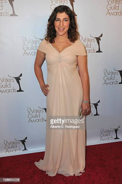 Actress Mayim Bialik arrives to the 2011 Writers Guild Awards on February 5 2011 in Hollywood California