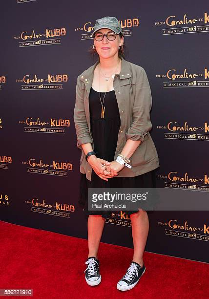 Actress Mayim Bialik attends 'Coraline To Kubo A Magical Laika Experience' at The Globe Theatre on August 5 2016 in Universal City California