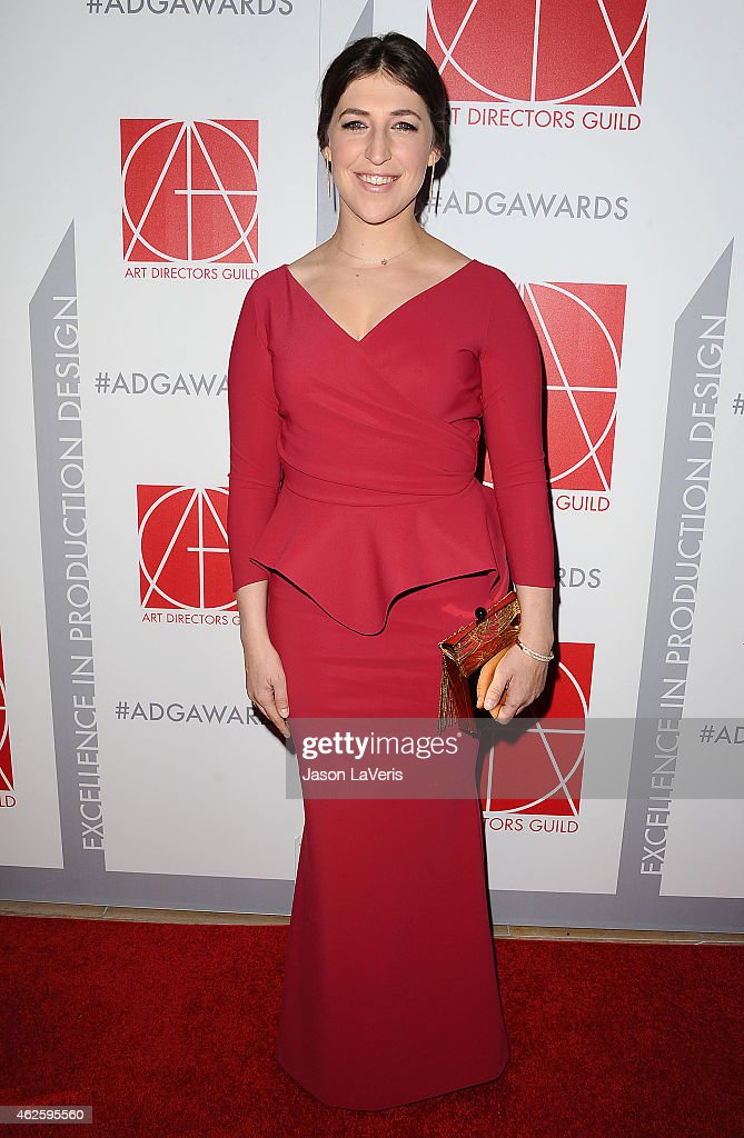 Actress Mayim Bialik attends the 19th annual Art Directors Guild Excellence In Production Design Awards at The Beverly Hilton Hotel on January 31, 2015 in Beverly Hills, California.