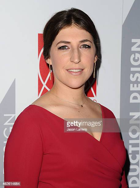 Actress Mayim Bialik attends the 19th annual Art Directors Guild Excellence In Production Design Awards at The Beverly Hilton Hotel on January 31...