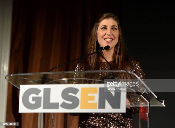 Actress Mayim Bialik attends the 9th Annual GLSEN Respect Awards at Beverly Hills Hotel on October 18 2013 in Beverly Hills California
