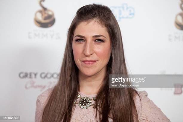 Actress Mayim Bialik attends The Academy Of Television Arts Sciences Performer Nominees' 64th Primetime Emmy Awards Reception at Spectra by Wolfgang...