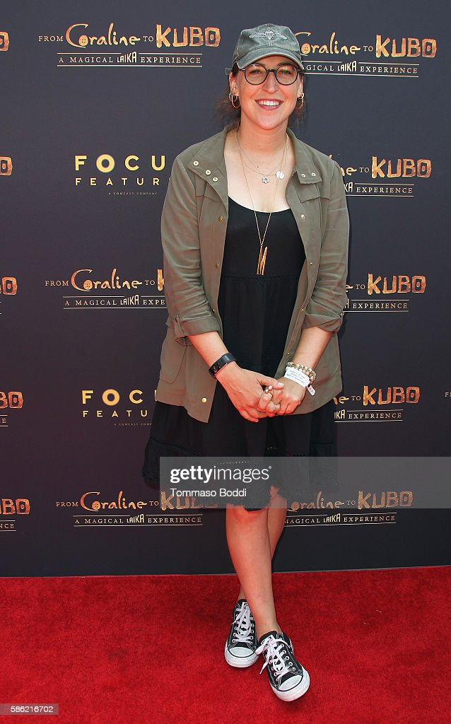 Actress Mayim Bialik attends the From Coraline To Kubo A Magical Laika Experience at The Globe Theatre on August 5 2016 in Universal City California