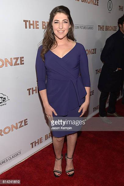 Actress Mayim Bialik attends the premiere of Sony Pictures Classics' 'The Bronze' at the Regent Theater on March 7 2016 in Los Angeles California