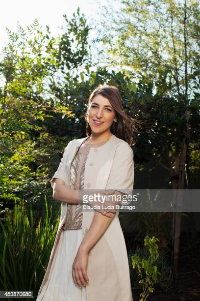 Actress Mayim Bialik is photographed for Bust Magazine on January 22 2014 in Los Angeles California