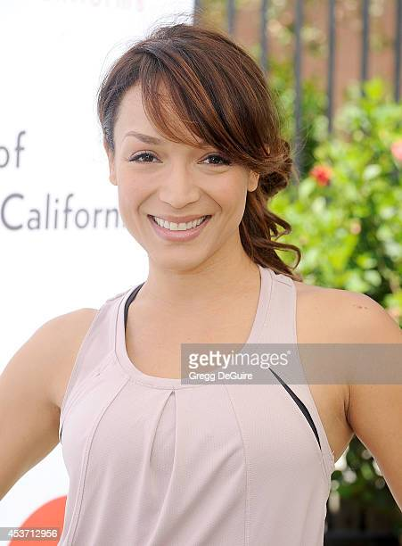 Actress Mayte Garcia arrives at The Dave Thomas Foundation for adoption's kickball for a home celebrity kickball game at University of Southern...
