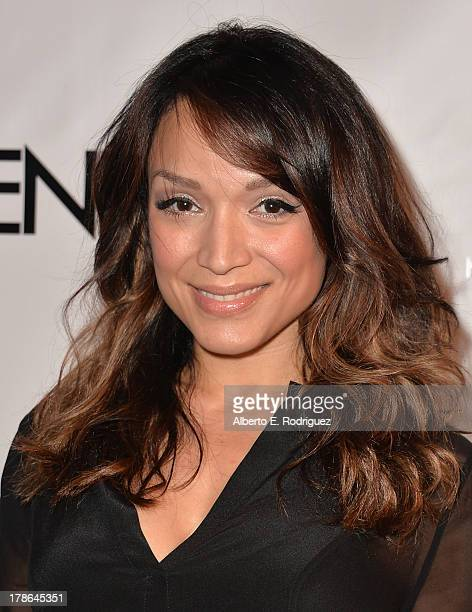 Actress Mayte Garcia arrives to Genlux Magazine's Issue Release party featuring Erika Christensen at The Sofitel Hotel on August 29 2013 in Los...
