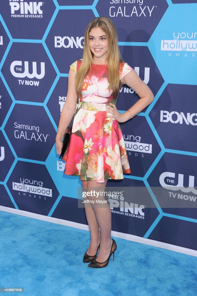 Actress <a gi-track='captionPersonalityLinkClicked' href=/galleries/search?phrase=McKaley+Miller&family=editorial&specificpeople=8308837 ng-click='$event.stopPropagation()'>McKaley Miller</a> arrives at the 16th Annual Young Hollywood Awards at The Wiltern on July 27, 2014 in Los Angeles, California.
