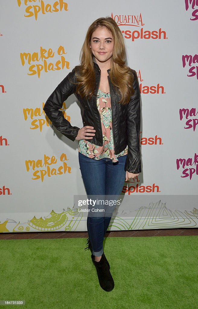 Actress <a gi-track='captionPersonalityLinkClicked' href=/galleries/search?phrase=McKaley+Miller&family=editorial&specificpeople=8308837 ng-click='$event.stopPropagation()'>McKaley Miller</a> attends Aquafina Launch of FlavorSplash at Sony Pictures Studios on October 15, 2013 in Culver City, California.