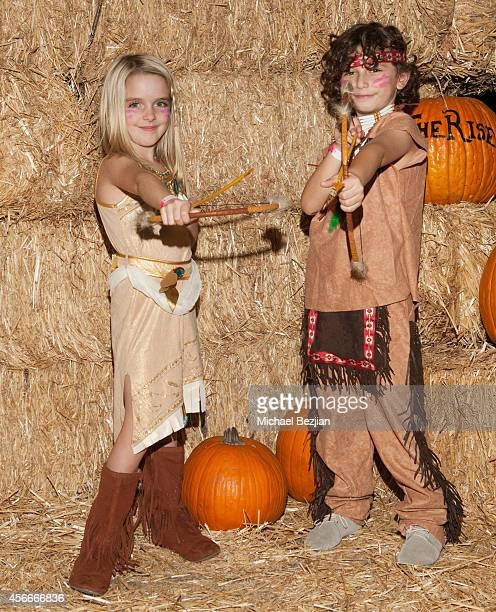 Actress McKenna Grace and actor August Maturo attend 'Rise Of The Jack O'Lanterns' Los Angeles Premiere at Descanso Gardens on October 4 2014 in La...
