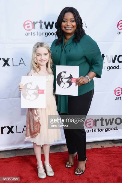 Actress Mckenna Grace and Actress/Honeree Octavia Spencer attend ARTWORXLA's 25th Anniversary Gala 'An Evening Of Art' at Taglyan Cultural Complex on...