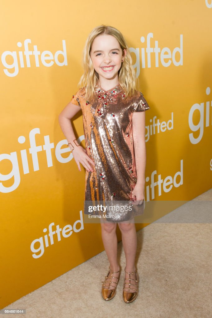 Actress Mckenna Grace arrives at the premiere of Fox Searchlight Pictures' 'Gifted' at Pacific Theaters at the Grove on April 4, 2017 in Los Angeles, California.