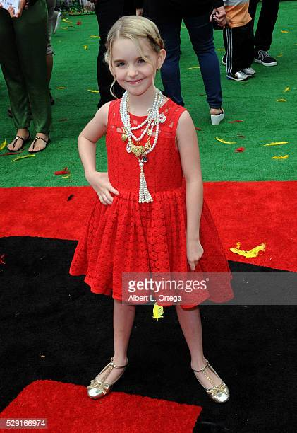 Actress McKenna Grace arrives for the Premiere Of Sony Pictures' 'Angry Birds' held at Regency Village Theatre on May 7 2016 in Westwood California