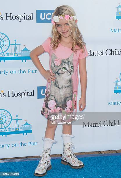 Actress Mckenna Grace attends Mattel's 5th Annual Party On The Pier Hosted By Sarah Michelle Gellar at Santa Monica Pier on October 5 2014 in Santa...