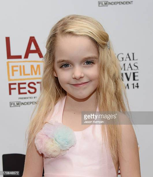 Actress Mckenna Grace attends the 2013 Los Angeles Film Festival Premiere Of 'Goodbye World' at Regal Cinemas LA Live on June 15 2013 in Los Angeles...
