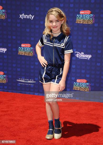 Actress Mckenna Grace attends the 2017 Radio Disney Music Awards at Microsoft Theater on April 29 2017 in Los Angeles California