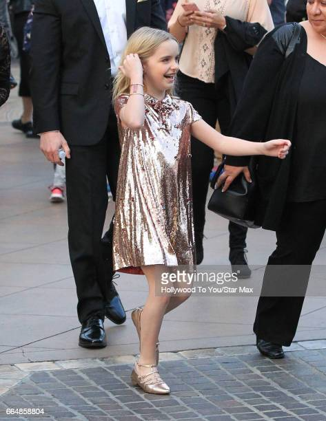Actress Mckenna Grace is seen on April 4 2017 in Los Angeles California