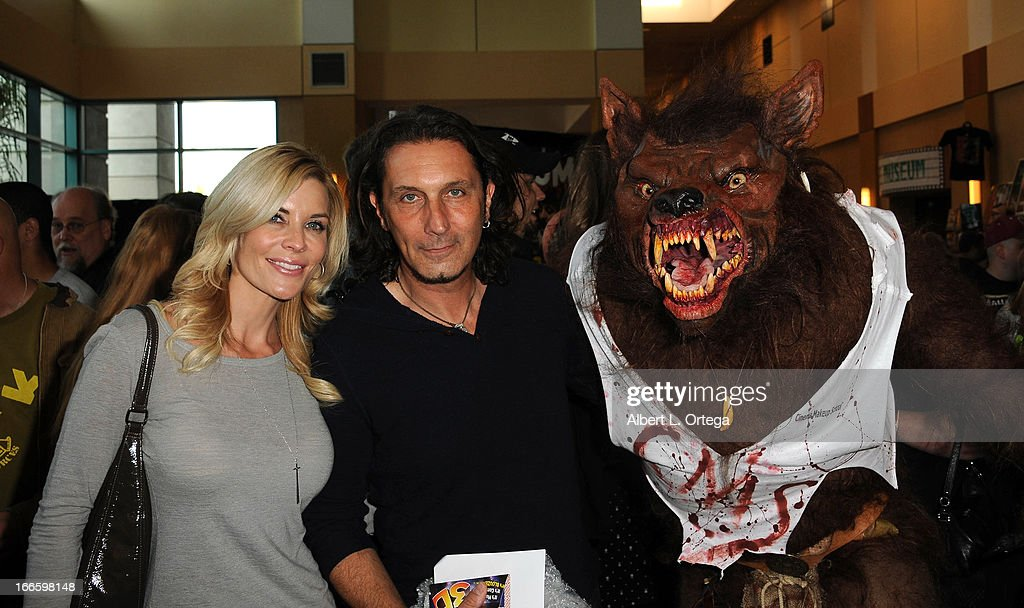 Actress McKenzie Westmore and FX artist Patrick Tatopoulos attends 2013 Monsterpalooza held at The Burbank Marriott Hotel & Convention Center on April 13, 2013 in Burbank, California.
