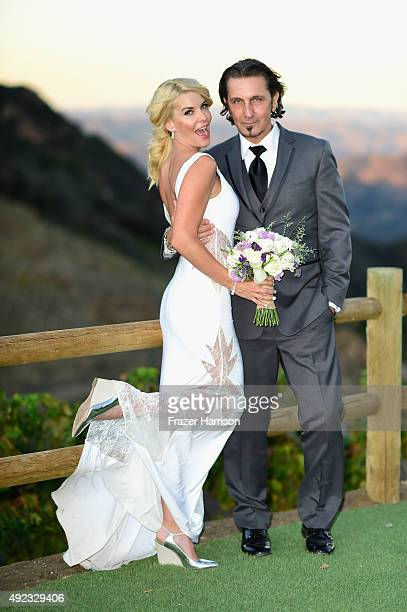 Actress McKenzie Westmore and Patrick Tatopoulos who were married at the Chateau Le Dome Saddlerock Ranch Winery on October 11 2015 in Malibu...