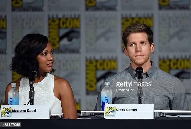 Actress Meagan Good and actor Stark Sands attend the 'Minority Report' panel during ComicCon International 2015 at the San Diego Convention Center on...