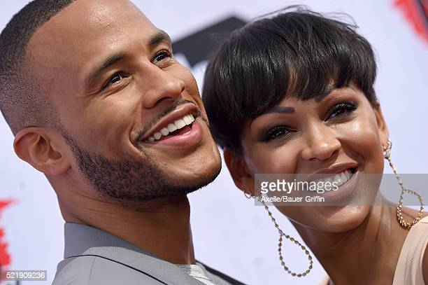 Actress Meagan Good and author DeVon Franklin arrive at iHeartRadio Music Awards on April 3 2016 in Inglewood California
